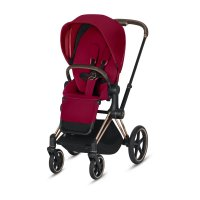 Poussette 4 roues priam rosegold true red