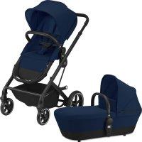 Poussette 4 roues balios s 2 en 1 black/navy blue