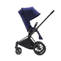 Poussette 4 roues priam black luxe light navy blue