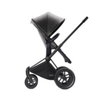 Pack poussette duo priam black 2 en 1 tout terrain mid grey