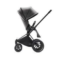 Poussette 4 roues priam black luxe tout terrain mid grey