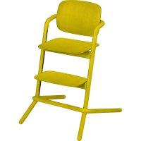 Chaise haute bébé évolutive lemo bois canary yellow