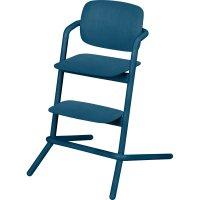 Chaise haute bébé évolutive lemo bois twilight blue