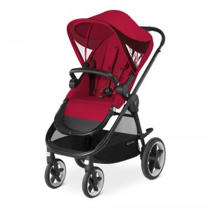 Poussette 4 roues balios m rebel red/red