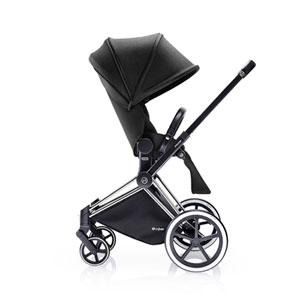 Poussette 4 roues priam chrome luxe light black