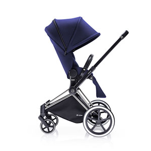 Poussette 4 roues priam chrome luxe light navy blue