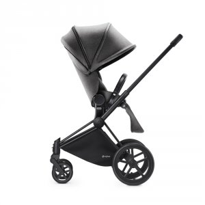 Poussette 4 roues priam black luxe light mid grey