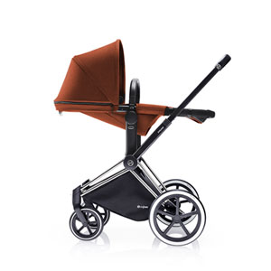 Poussette combiné duo priam chrome 2 en 1 trekking autumn gold