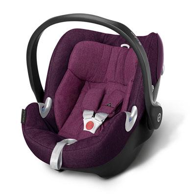 Siège auto aton q plus mystic pink/ purple - groupe 0+ Cybex