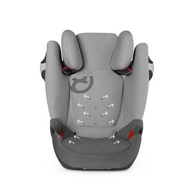 Siège auto solution m fix manhattan grey/mid grey - groupe 2/3 Cybex