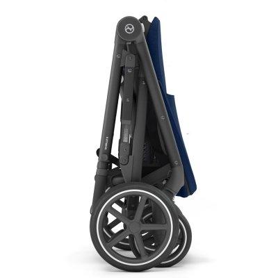 Poussette 4 roues gazelle s black/navy blue Cybex