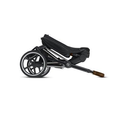 Poussette 4 roues priam chrome/brown premium black Cybex