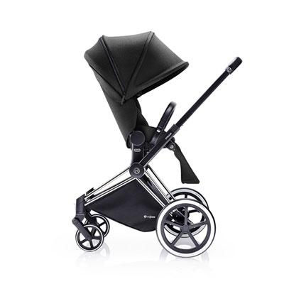 Poussette 4 roues priam chrome luxe light black Cybex