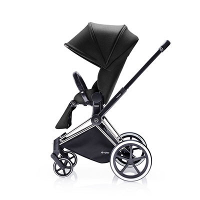 Poussette 4 roues priam chrome luxe light black Cybex
