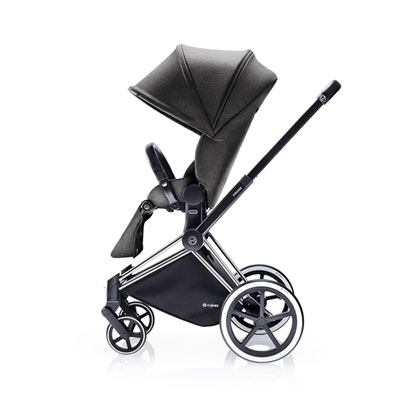 Poussette 4 roues priam chrome luxe light mid grey Cybex