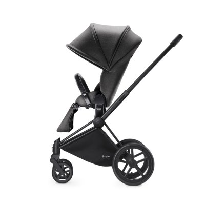 Poussette 4 roues priam black luxe light mid grey Cybex