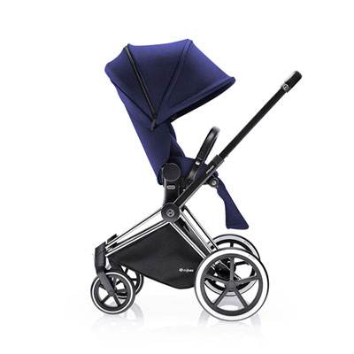Poussette 4 roues priam chrome luxe trekking navy blue Cybex