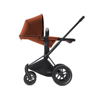 Pack poussette duo priam black 2 en 1 tout terrain autumn gold Cybex