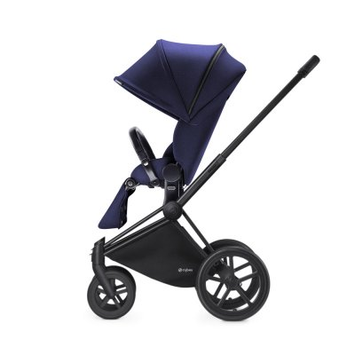Poussette 4 roues priam black luxe trekking navy blue Cybex