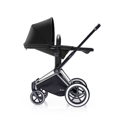 Poussette duo priam chrome 2 en 1 tout terrain black Cybex