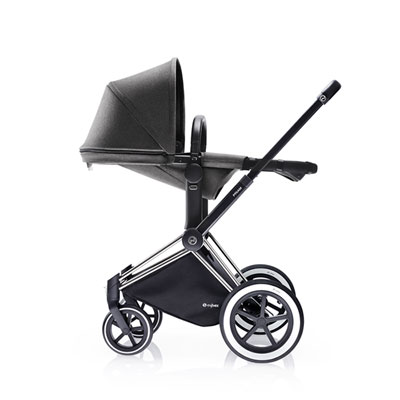 Pack poussette duo priam chrome 2 en 1 tout terrain mid grey Cybex