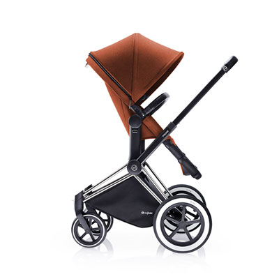 Pack poussette duo priam chrome 2 en 1 tout terrain autumn gold Cybex