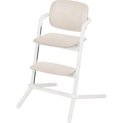 Chaise haute bébé évolutive lemo bois porcelaine white Cybex