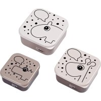 Lot de 3 snack box contour rose poudré