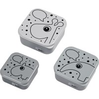 Lot de 3 snack box contour grey