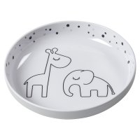 Assiette plate yummi dreamy dots grey