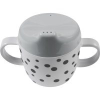 Tasse à bec happy dots grey