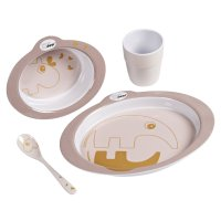 Coffret repas dinner set contour powder/gold