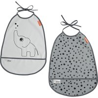 Lot de 2 bavoirs elphee grey tones