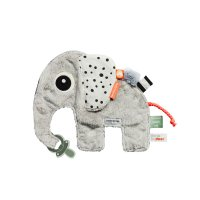 Doudou attache sucette cozy friend elphee grey