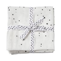 Lot de 2 langes 120x120cm dreamy dots white