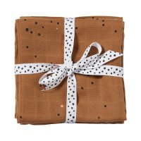 Lot de 2 langes 70x70cm dreamy dots mustard
