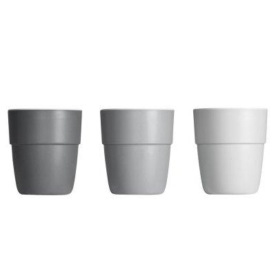 Lot de 3 tasses grey tones Done by deer