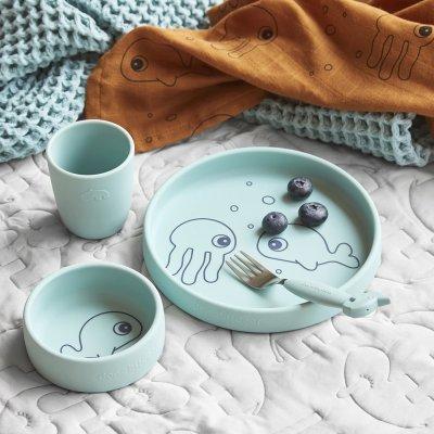 Coffret repas en silicone sea friends bleu Done by deer