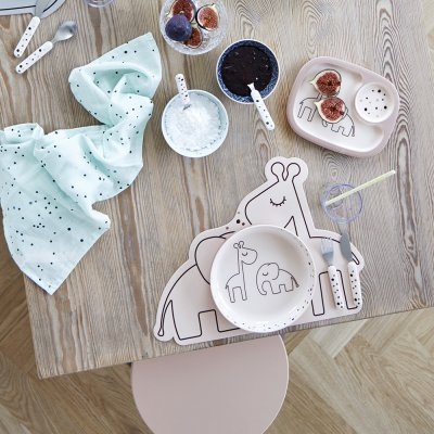 Set de table en silicone dreamy dots powder Done by deer