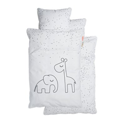 House de couette et taie dreamy dots blanc Done by deer