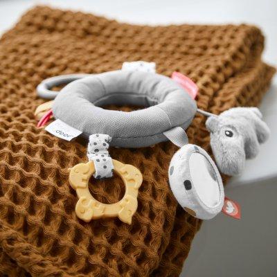 Jouet d'éveil bébé anneau d'activité grey Done by deer