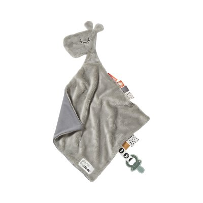 Doudou attache sucette raffi grey Done by deer