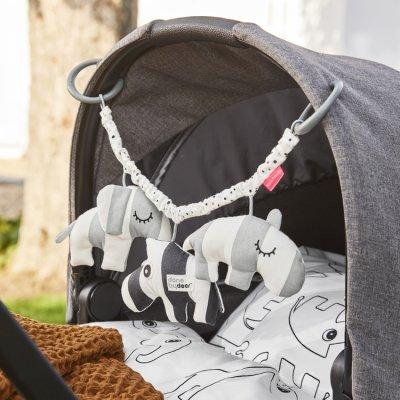 Jouet d'éveil bébé pour poussette deer friends grey Done by deer