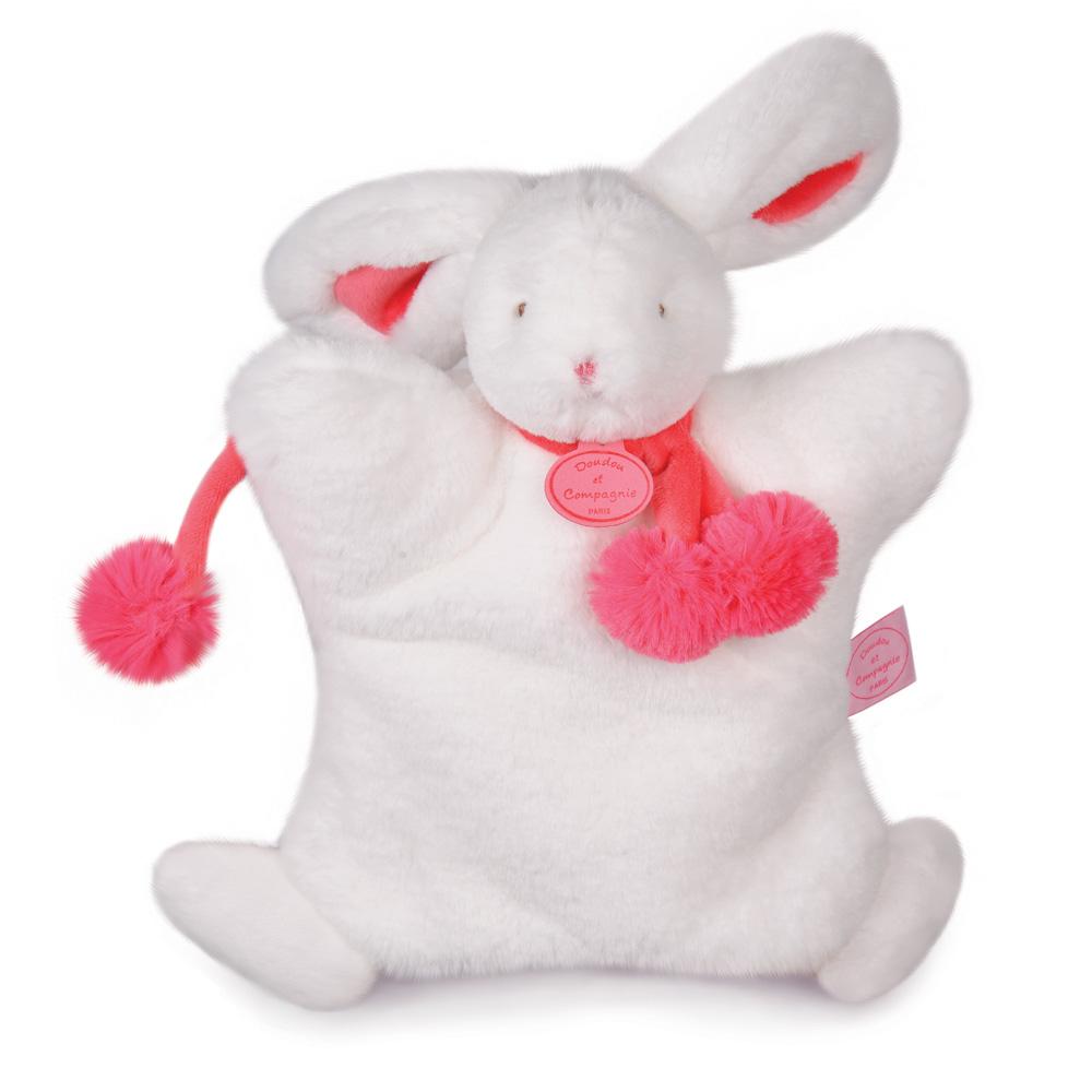 jouet d 39 veil b b marionnette lapin pompon fraise 10. Black Bedroom Furniture Sets. Home Design Ideas
