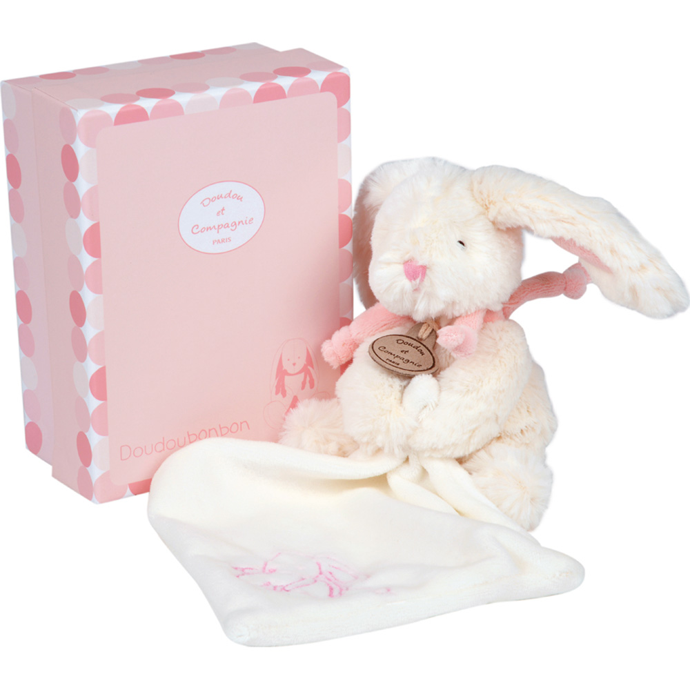 peluche b b pantin avec doudou lapin bonbon rose de doudou et compagnie en vente chez cdm. Black Bedroom Furniture Sets. Home Design Ideas