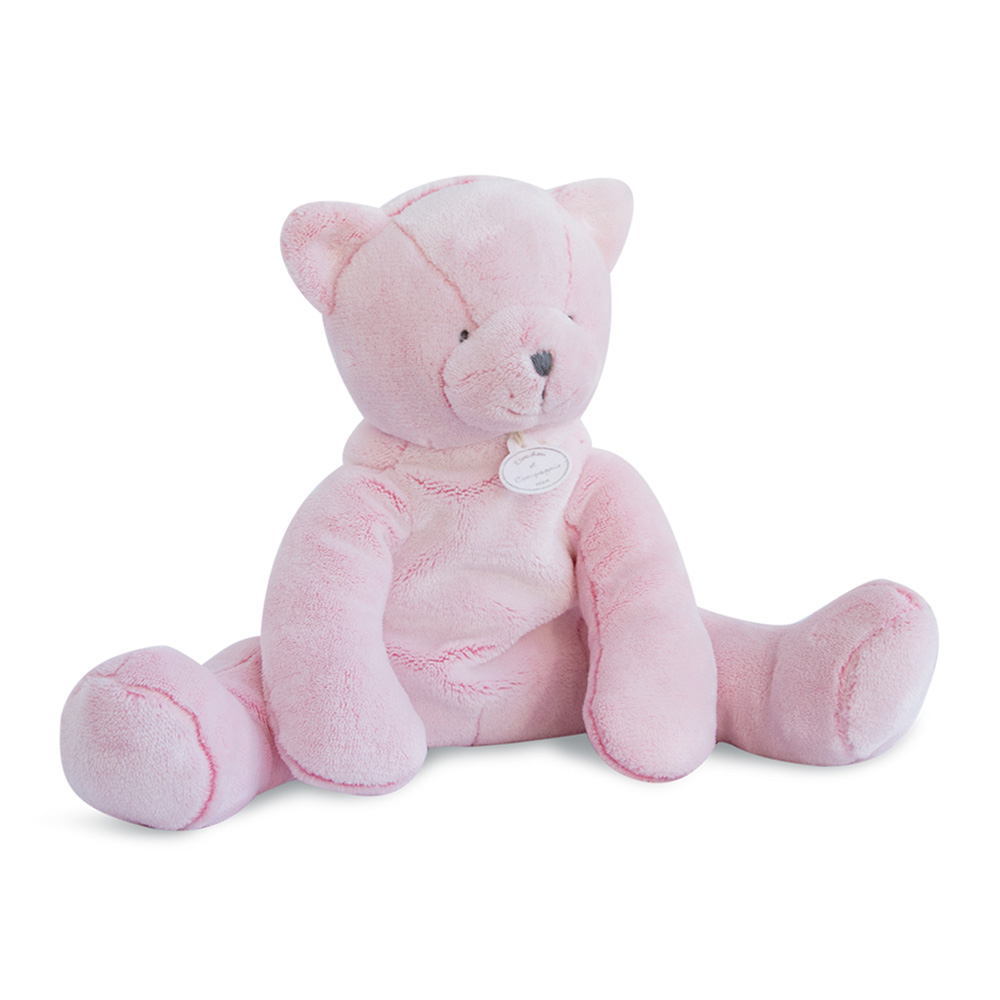 peluche b b pantin chat rose de doudou et compagnie chez naturab b. Black Bedroom Furniture Sets. Home Design Ideas