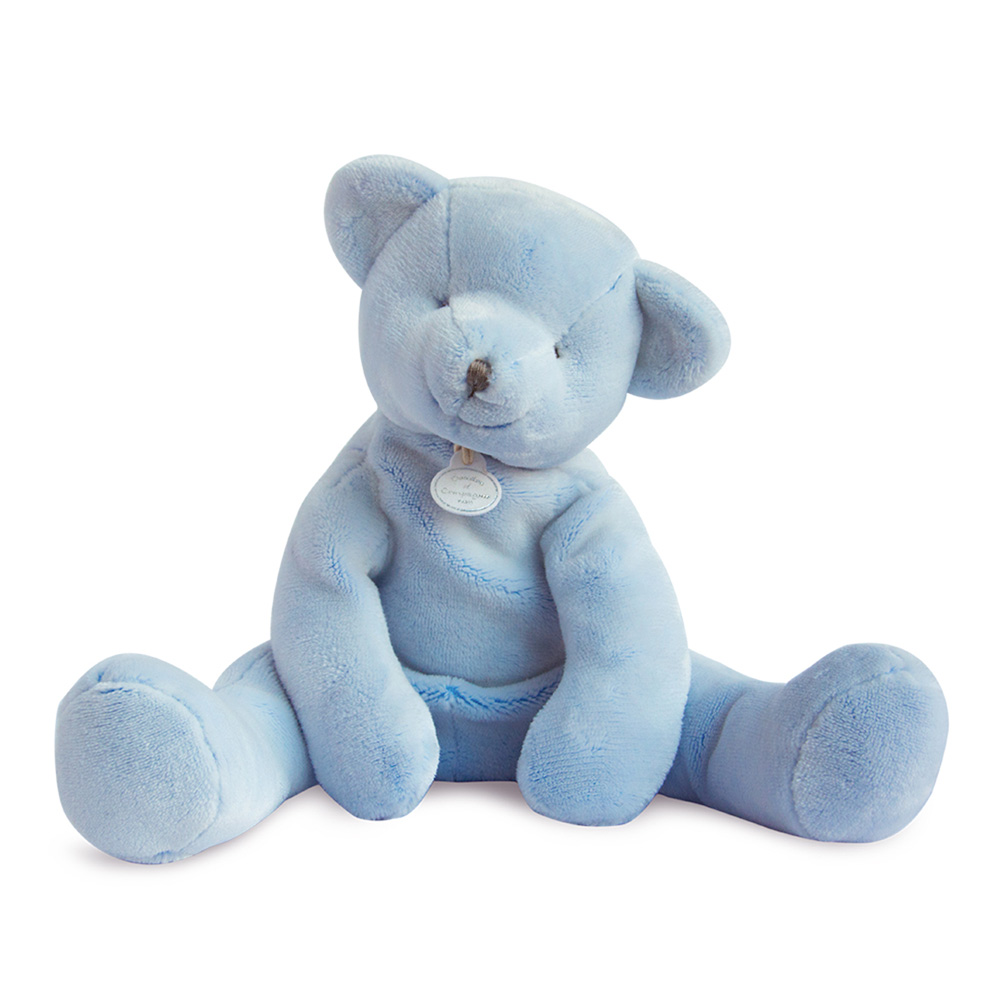 peluche b b pantin ours bleu de doudou et compagnie chez naturab b. Black Bedroom Furniture Sets. Home Design Ideas