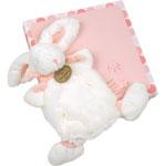 Doudou rose lapin bonbon pas cher