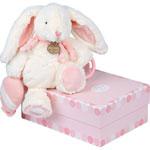 Peluche bébé pantin d'activités lapin bonbon rose pas cher