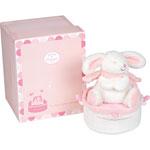 Boite à musique tournante lapin bonbon rose pas cher